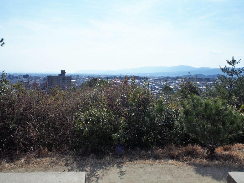船岡山から一望できる京都市内