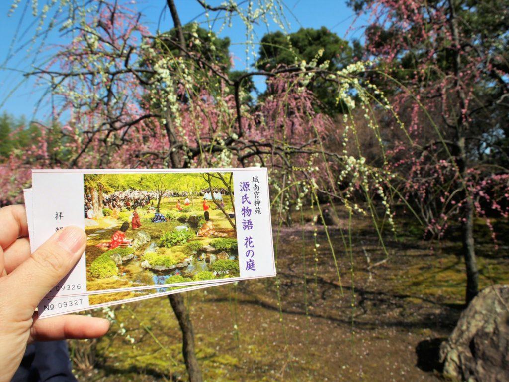 源氏物語 花の庭