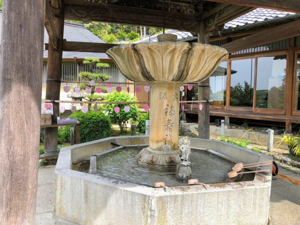 三室戸寺の手水舎