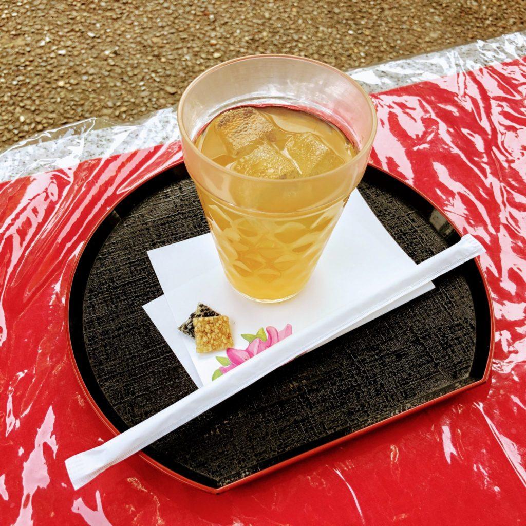 三室戸寺「花の茶屋」のひやしあめ