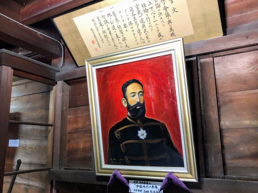 少佐時代の肖像画