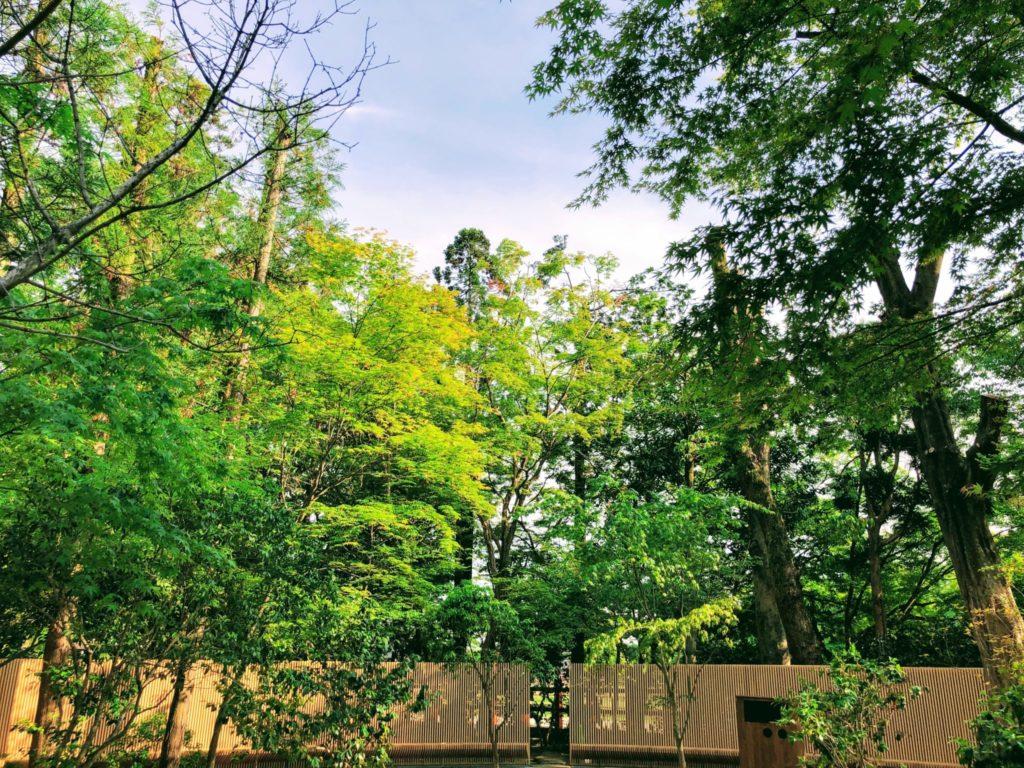 上賀茂神社の「憩いの庭」