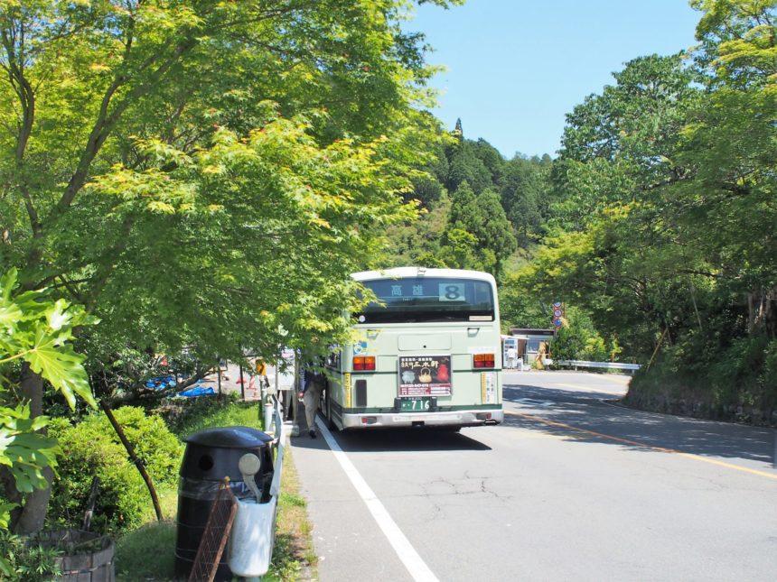 京都市バス8号系統高雄行き