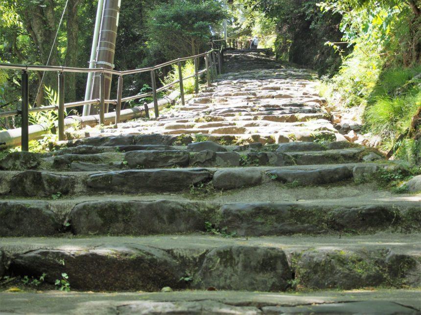 神護寺の参道の石段