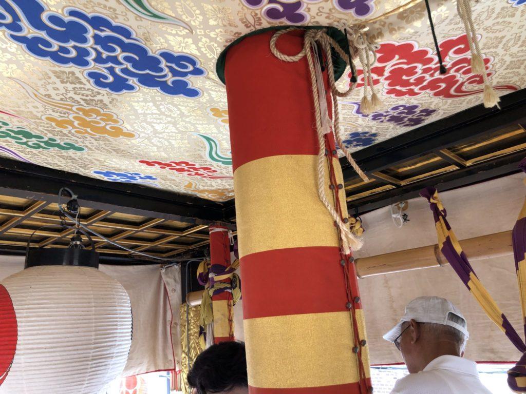 岩戸山の内部天井
