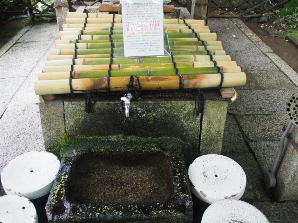 染井の名水汲み場所