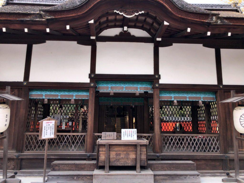 河合神社の拝殿