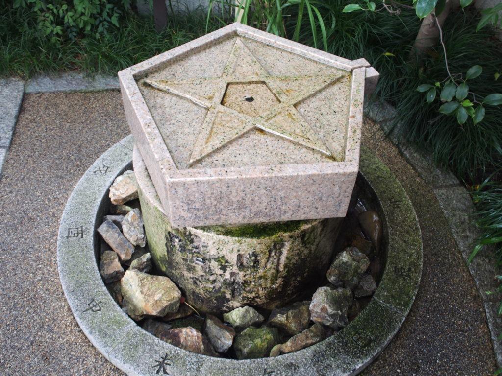 晴明井の水の出口(取水口)はその歳の恵方を向いてる