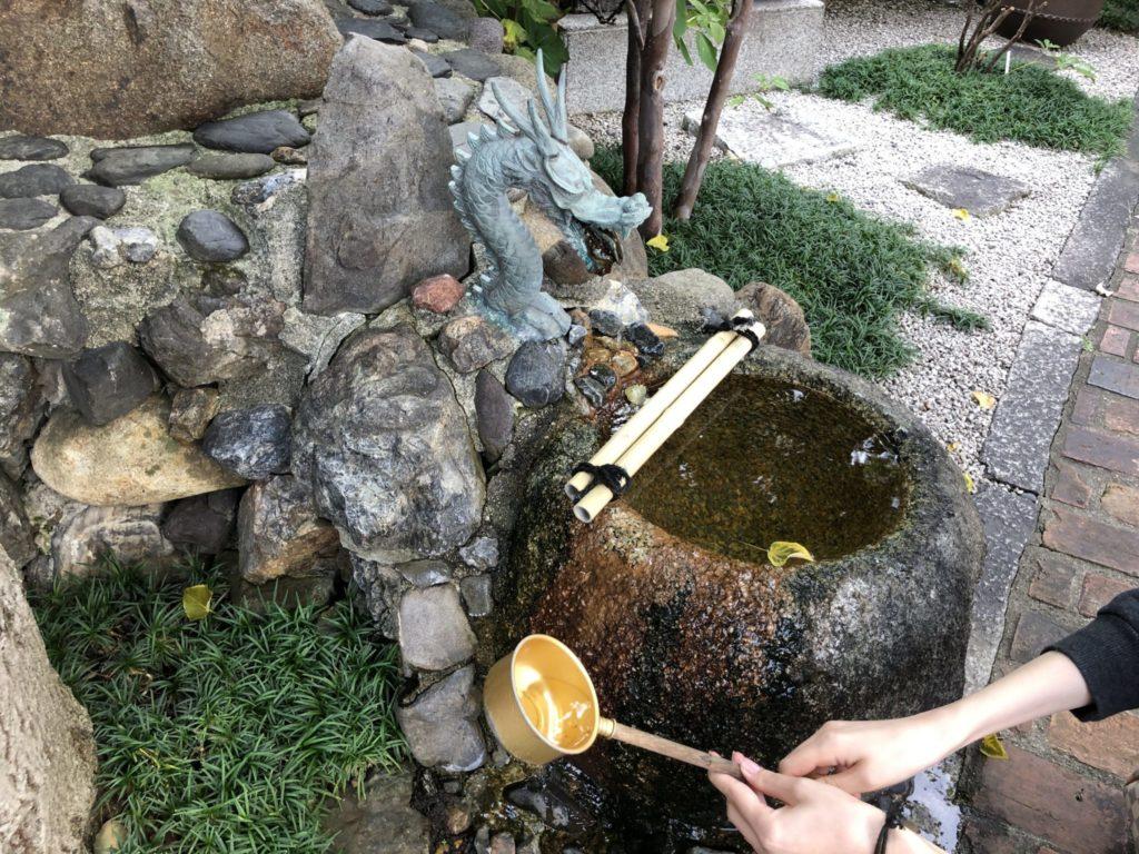 粟嶋堂の手水舎