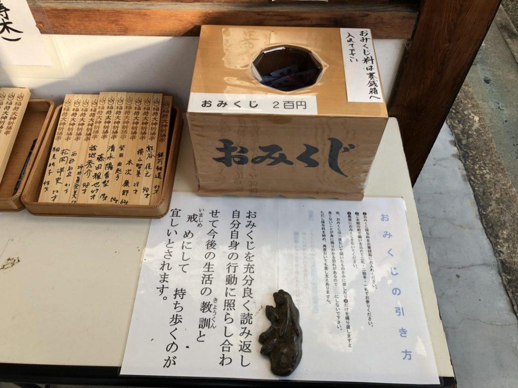 鎌達稲荷神社のおみくじ