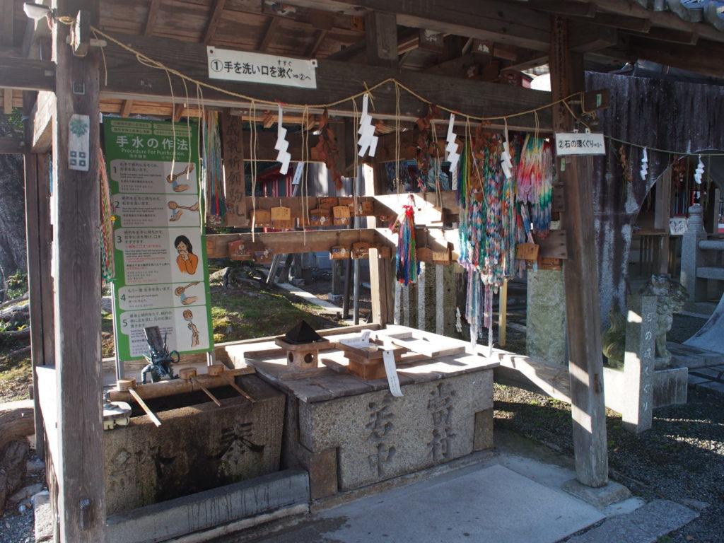 稗田野神社の手水舎