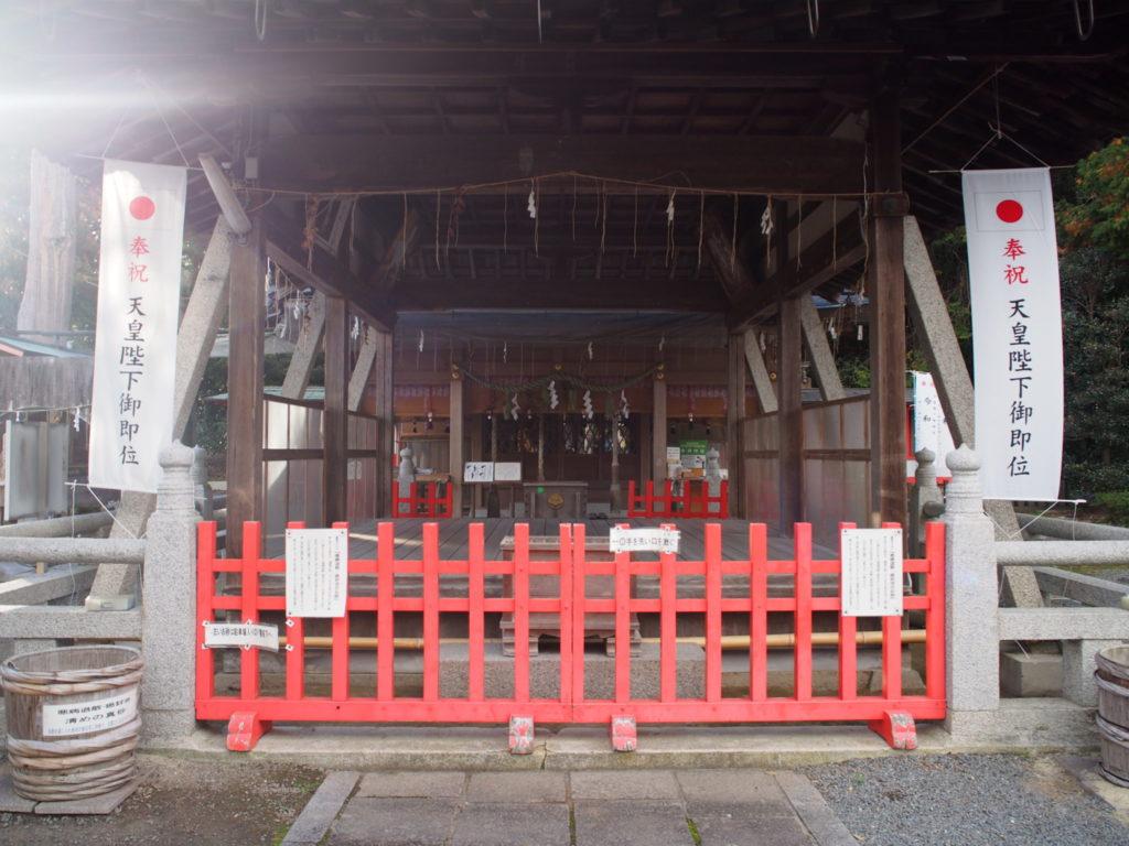 稗田野神社の舞殿とその奥にご本殿