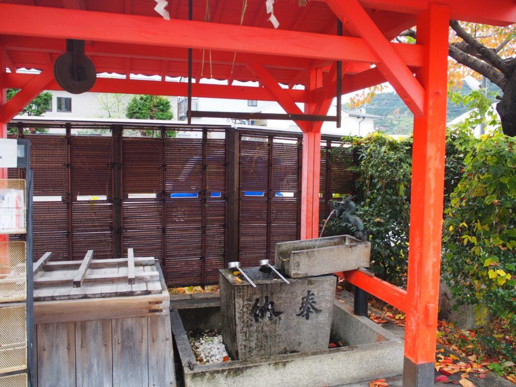 折上稲荷神社の手水舎