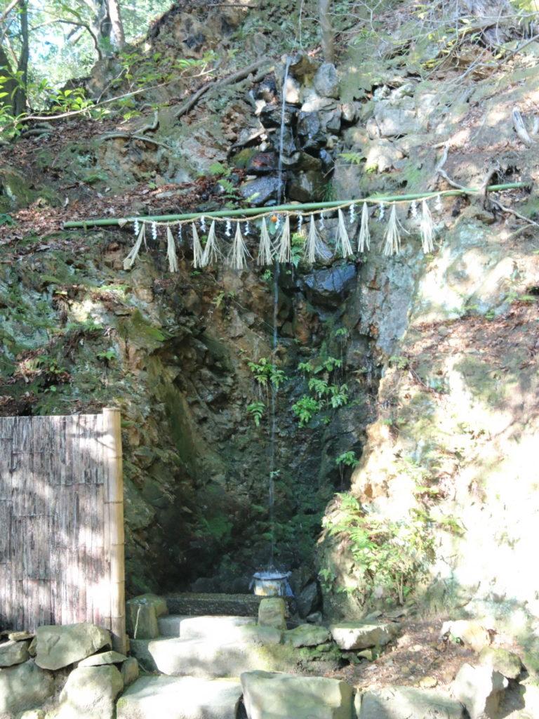 裏山から滴り落ちる水