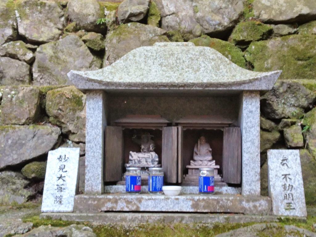 毘沙門堂の高台弁天の不動明王、妙見菩薩