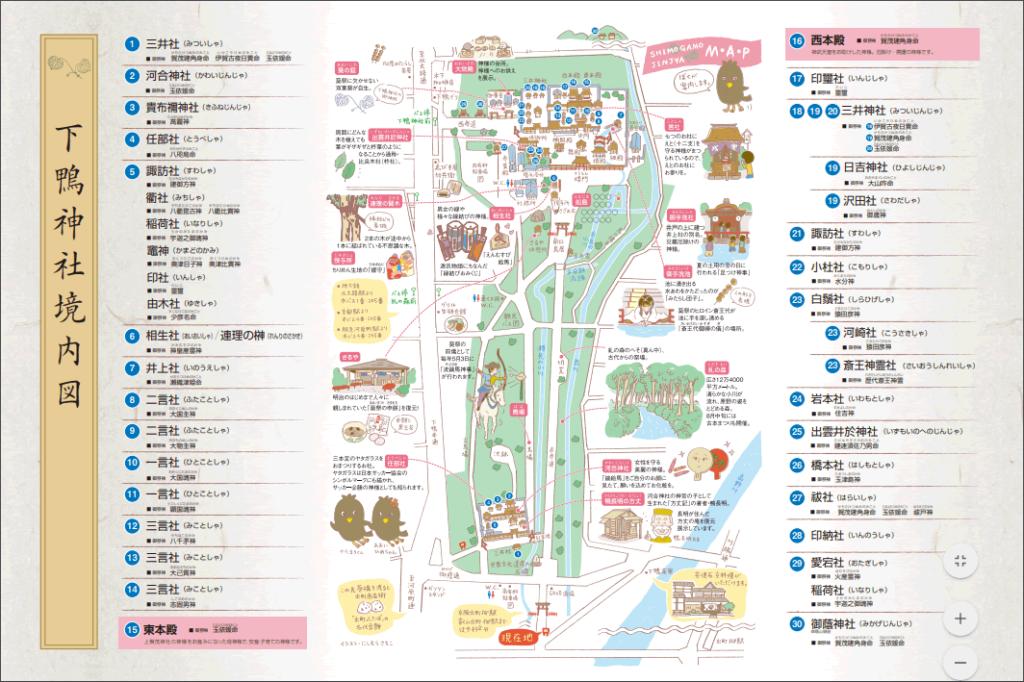 下賀茂神社の境内マップ
