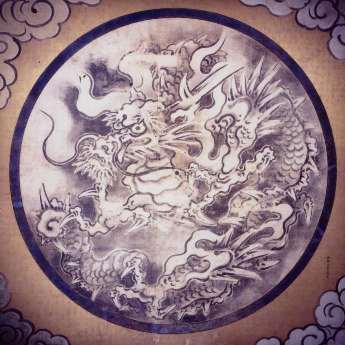 霊殿の天井龍(毘沙門堂ホームページより)