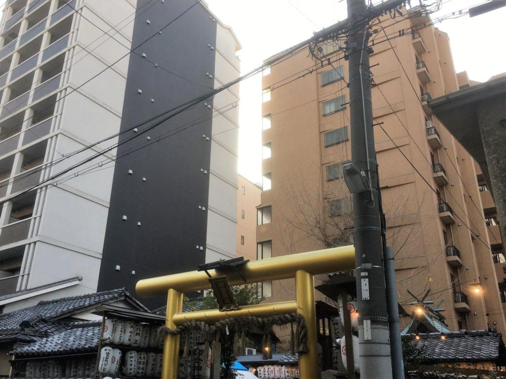 京都の中心地にある御金神社