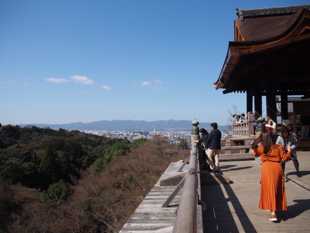 清水の舞台から見た京都市内