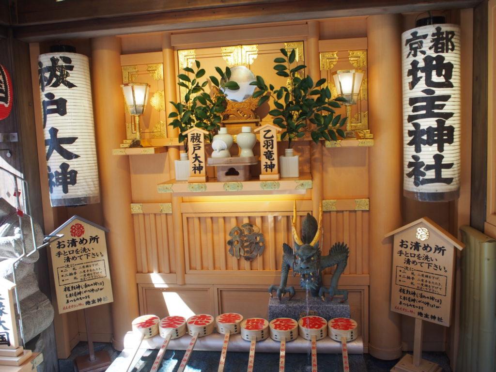 地主神社のお清め所