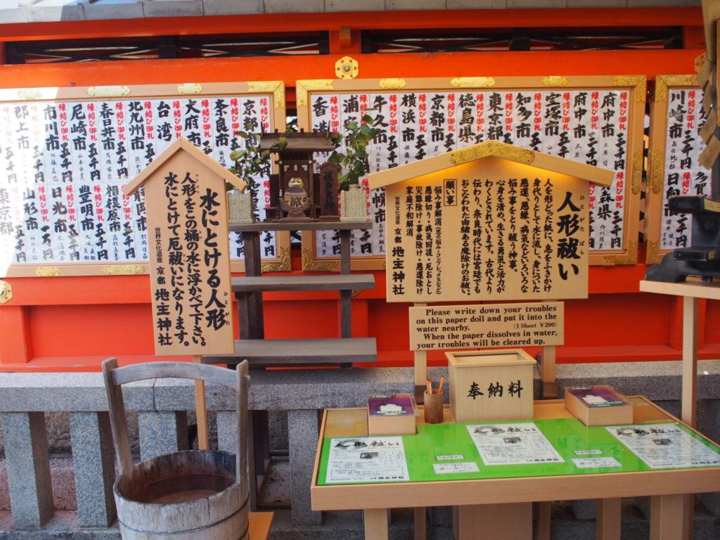 地主神社の人形祓い