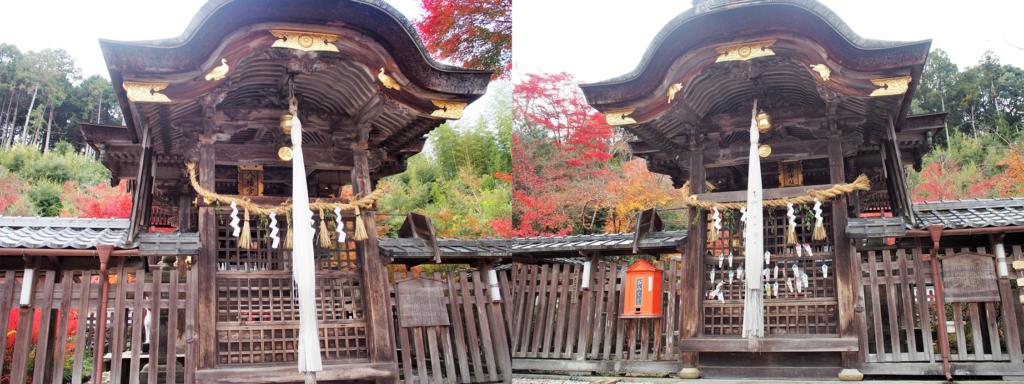 鍬山神社の二つの本殿