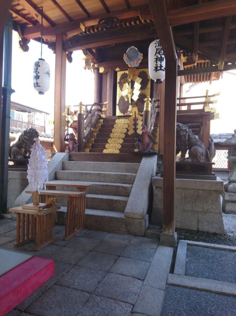 北山貴船神社奥ノ院旧殿を移設した瀧尾神社のご本殿