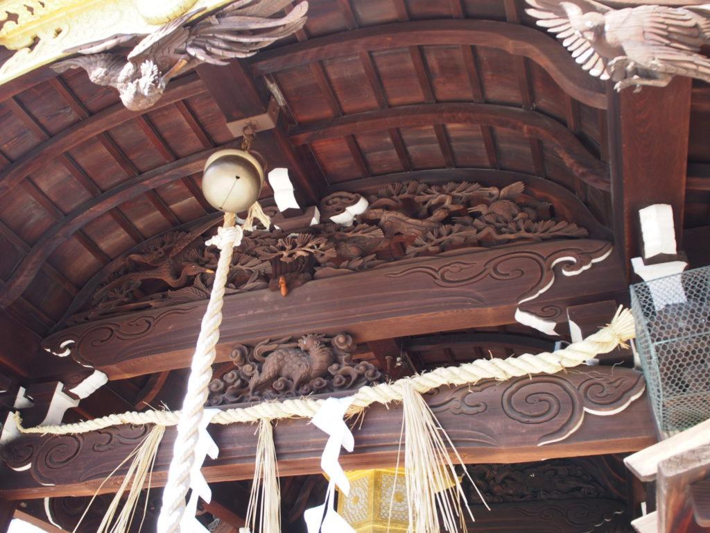 瀧尾神社の彫刻の数々