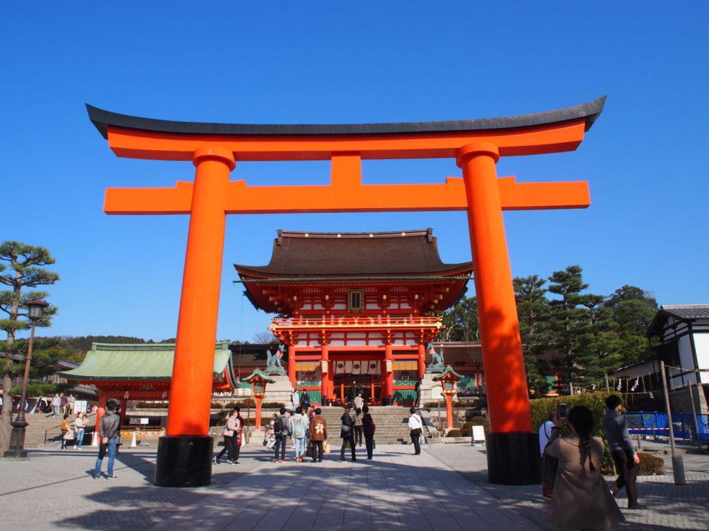 伏見稲荷大社の二の鳥居と楼門