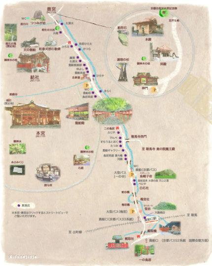 貴船神社MAP ※公式HPより