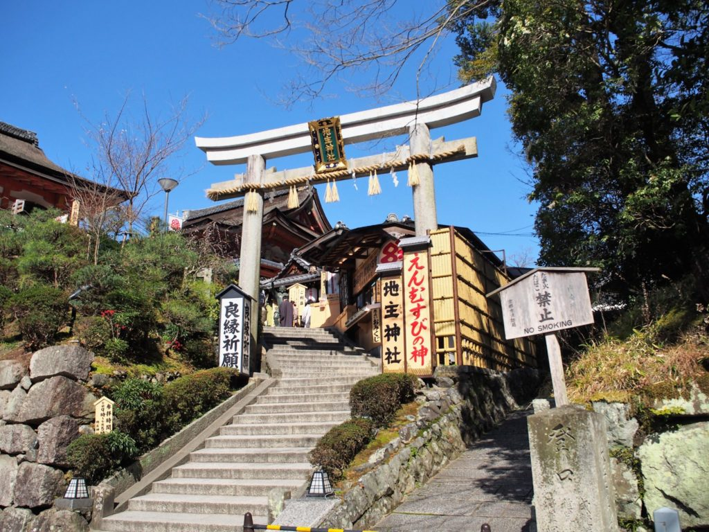 地主神社は清水寺の敷地内にある