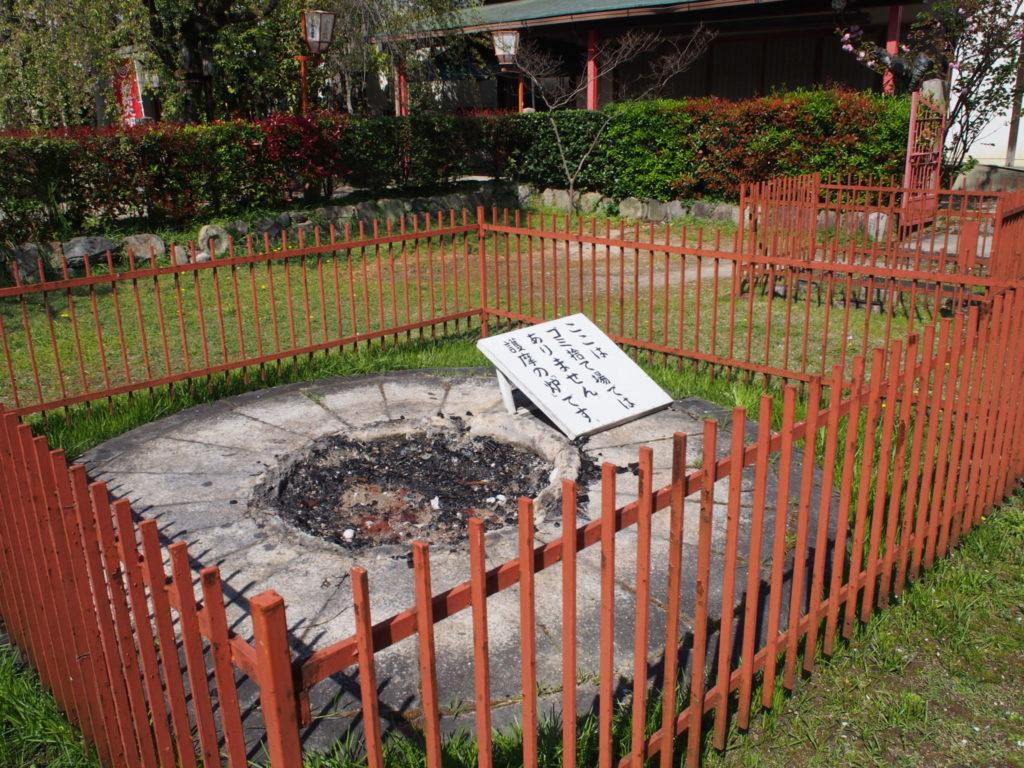 長建寺の護摩の炉