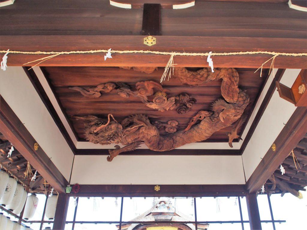 瀧尾神社の天井龍