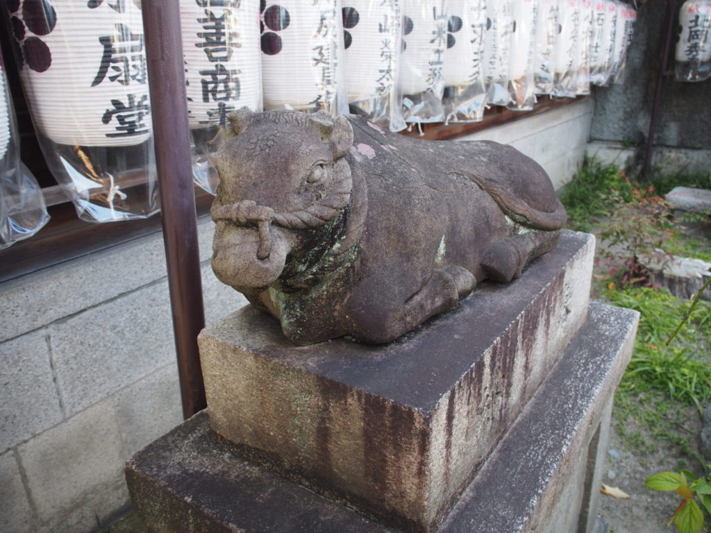 文子天満宮の狛牛
