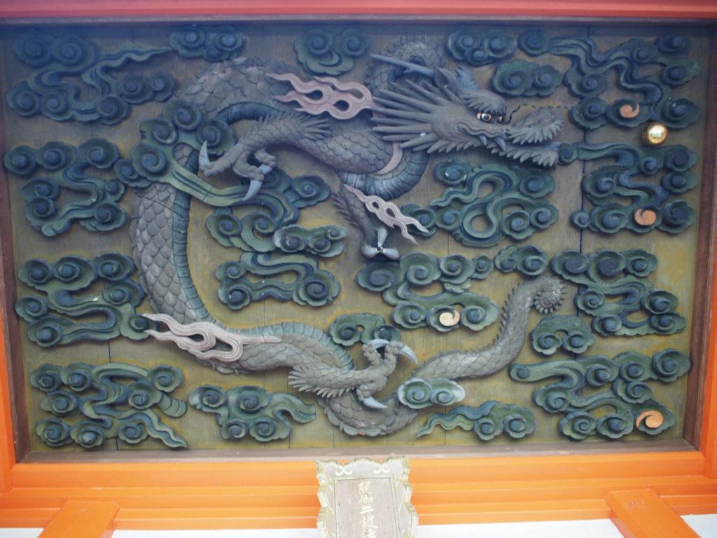 閼伽井護法善神社の天上龍