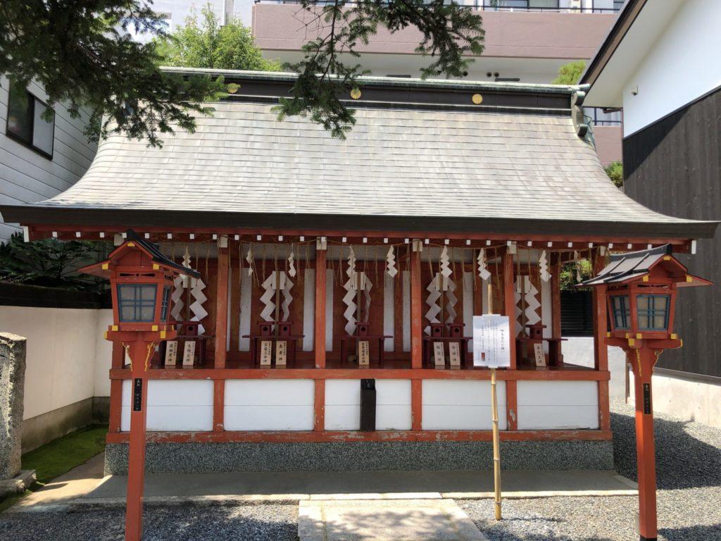 恵比寿神社・稲荷神社・天満宮・長者神社・金毘羅神社