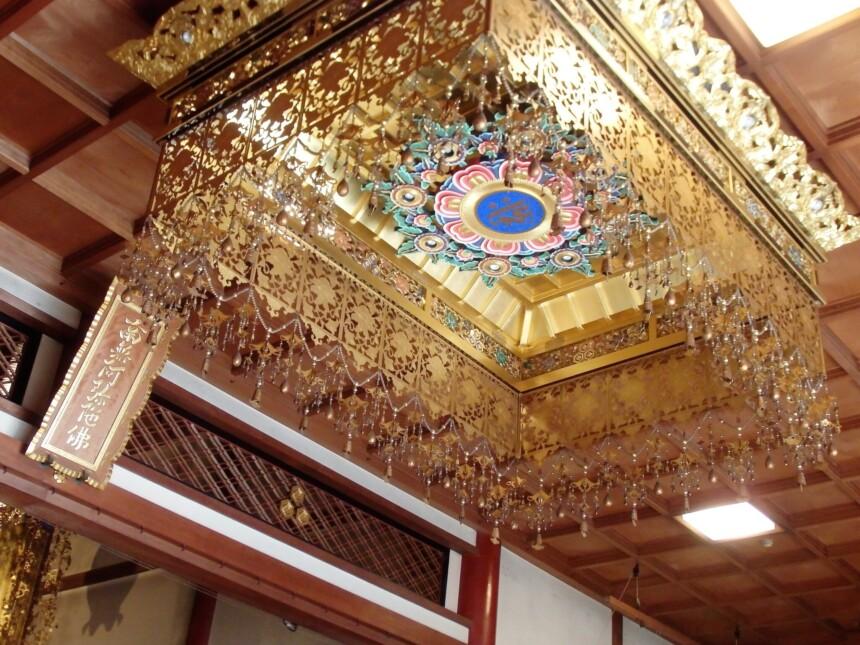 誓願寺の本堂上の天井