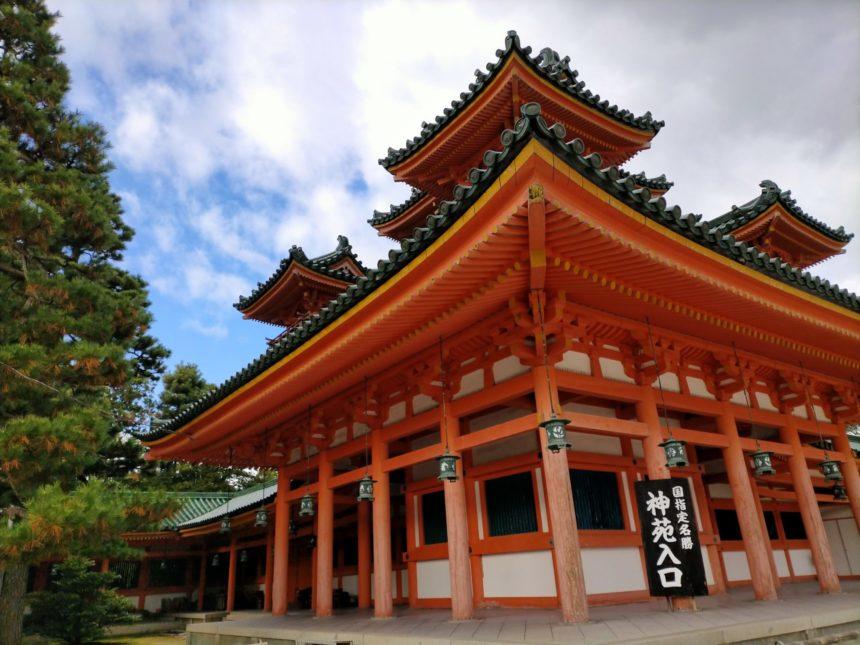 平安神宮の白虎楼(びゃっころう)