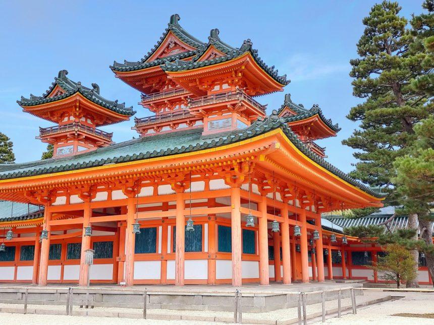 平安神宮の蒼龍楼(そうりゅうろう)