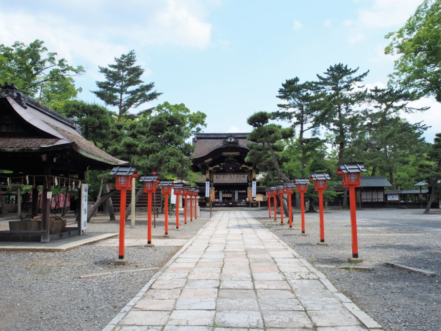 豊国神社の境内
