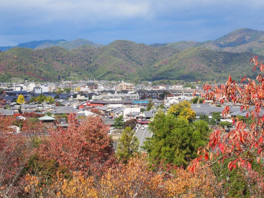 法輪寺の舞台から見た嵐山