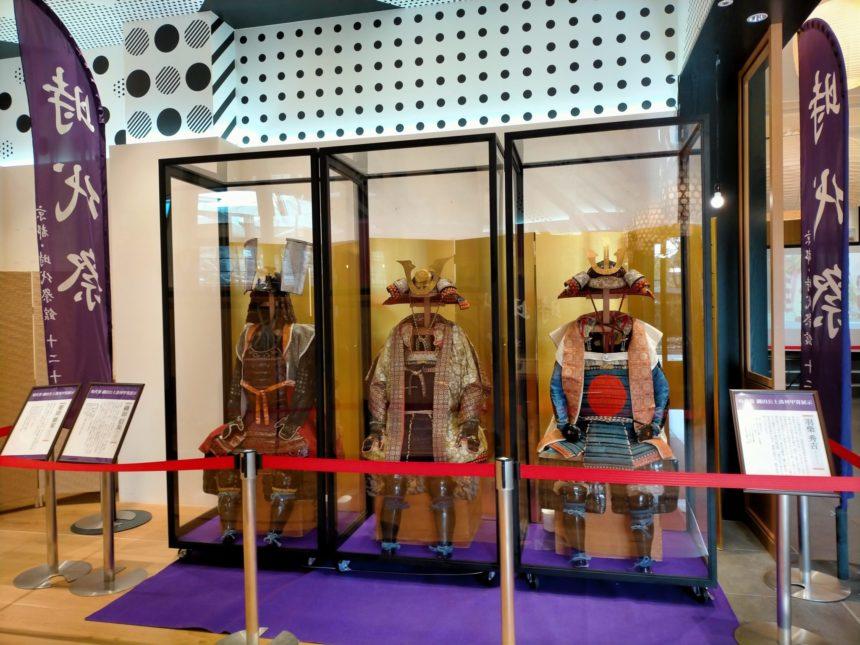 京都時代祭館「十二十二」に展示されている時代祭の衣装