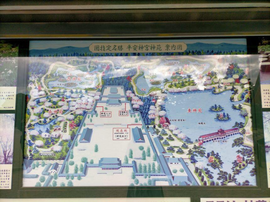 平安神宮の境内図