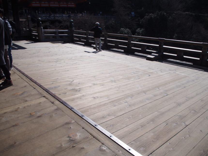 修理前の清水の舞台