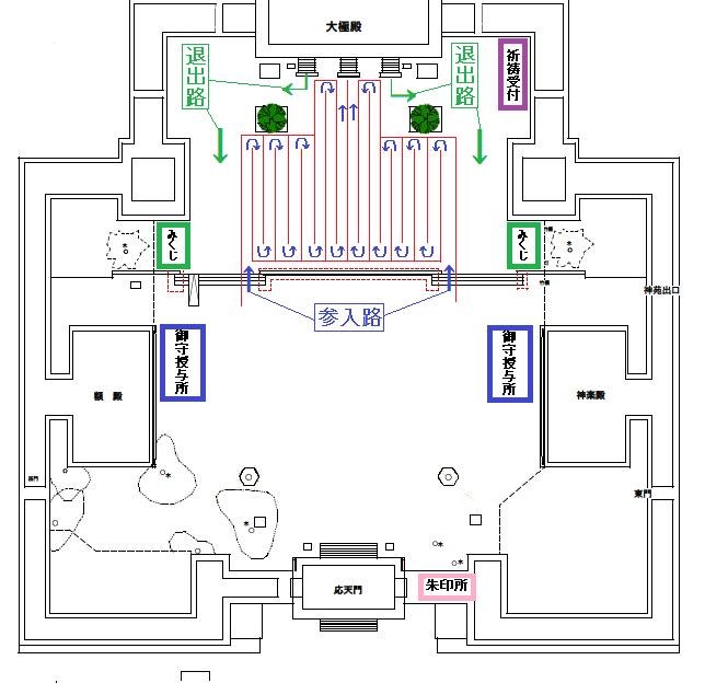 平安神宮の初詣、境内参拝規制