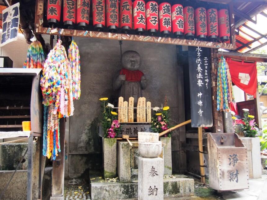 仲源寺境内の水子供養地蔵尊